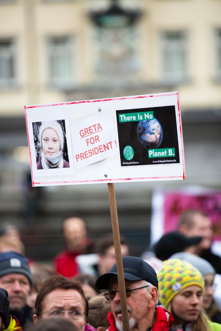 greta for president signage